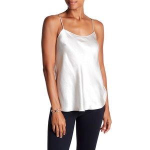 NWT VINCE Silk Satin Camisole Ivory XS Tank Top